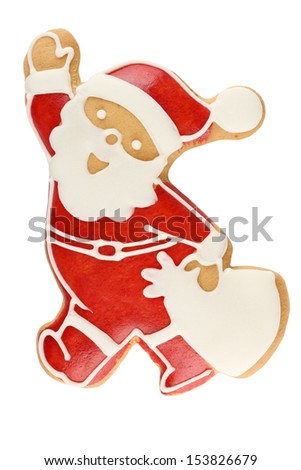 Gingerbread Santa Claus - stock photo