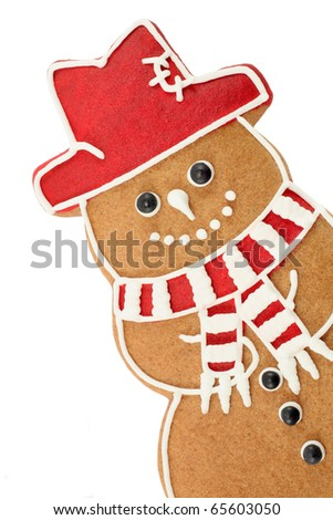 Gingerbread snowman - stock photo