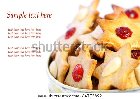 Gingerbread stars, place for text