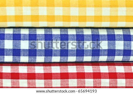 Gingham Cloths Closeup - stock photo