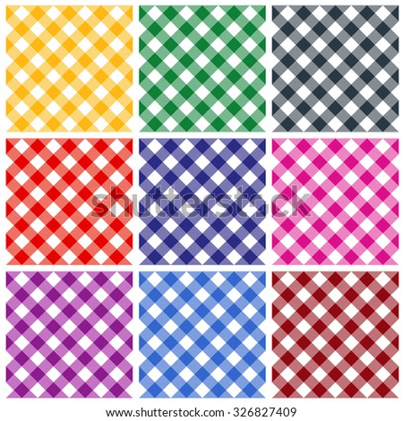 Nice Gingham Patterns / Textures In Different Colors For Thanksgiving, Home  Decorating, Napkins, Tablecloths