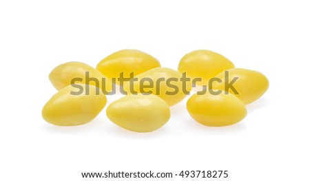Ginkgo nuts on white background