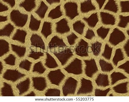giraffe fur background texture that tiles seamless as a pattern - stock photo