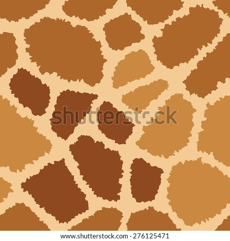 Giraffe fur texture pattern repeats seamlessly. - stock photo