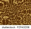 giraffe skin for background - stock vector