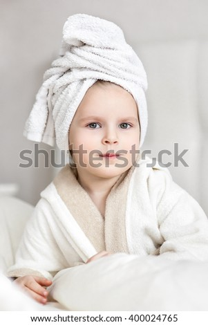 Girl after bath