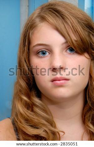 Girl Alone - stock photo