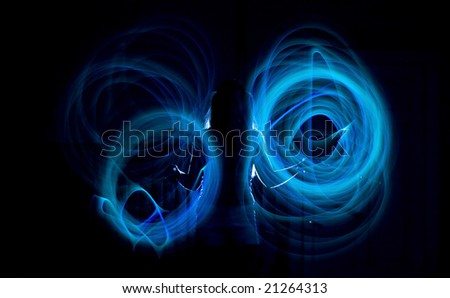 girl and abstract light