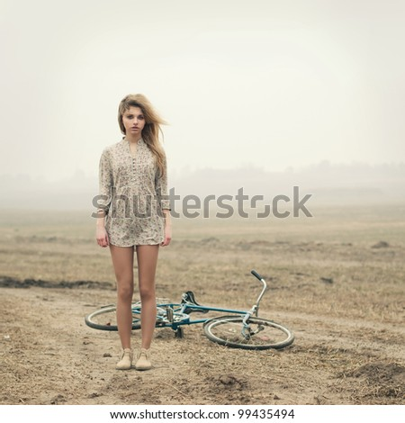 girl and bike