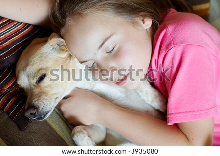 Girl and dog - dream