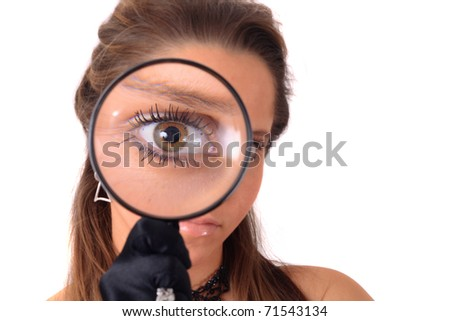 girl and magnify glass