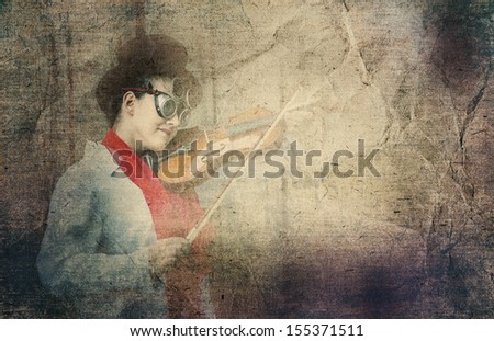 girl and violin