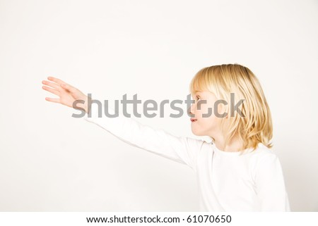 Girl asking for help - stock photo