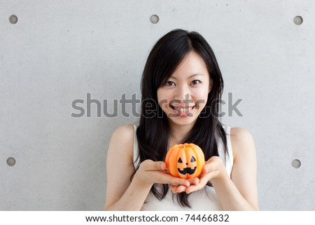 Girl at Halloween