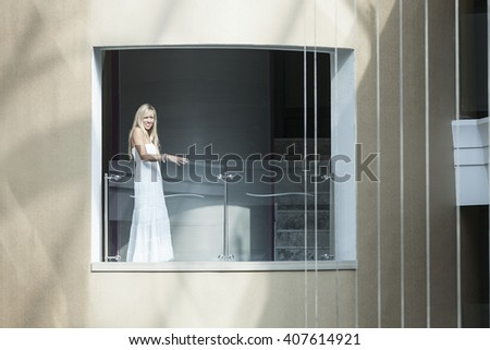 Girl at the balcony