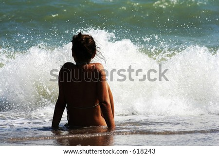 girl at the sea shore