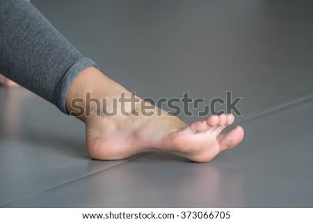 Girl barefoot - stock photo
