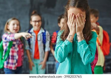Girl crying - stock photo