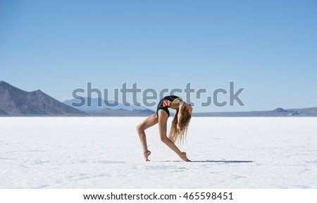 Girl Dancer Salt Flats