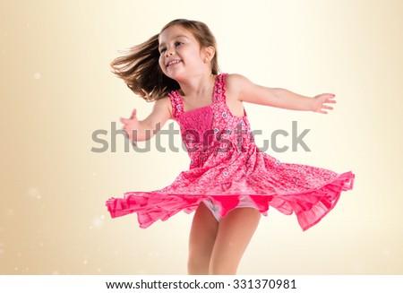 Girl dancing - stock photo