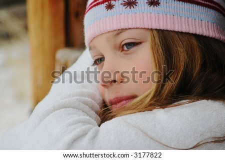girl day dreaming - stock photo