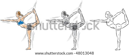 Girl doing a Yoga stretch, can be used for anything.