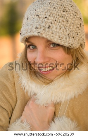 Girl dressed for winter