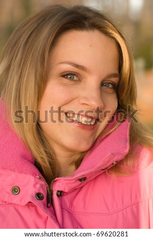 Girl dressed for winter - stock photo