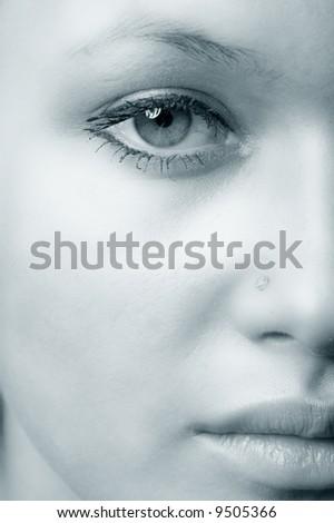 girl eye - stock photo
