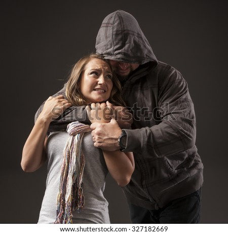 GIRL FIGHTS BACK SELF DEFENSE | A young woman sees a suspicious person and he tries to choke her.  Refuse to be a victim.  