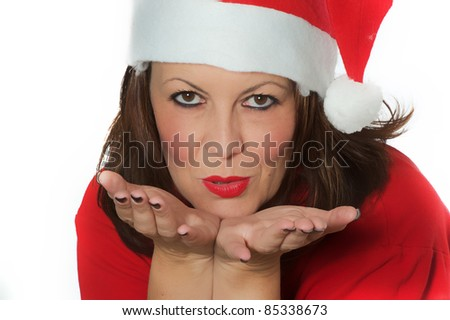 girl for christmas - stock photo