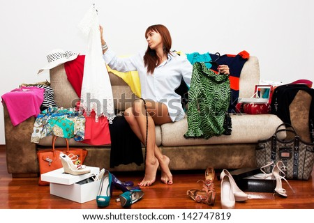 Girl going on vacation - stock photo