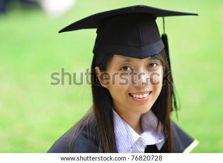 girl graduation - stock photo