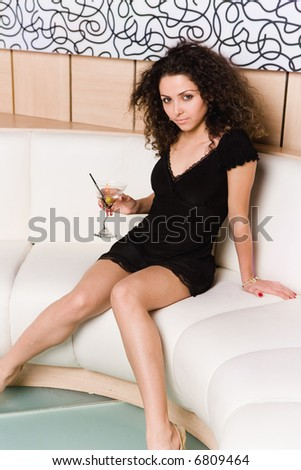 girl having fun at night club - stock photo