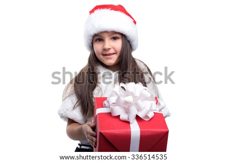 Girl holding a big gift