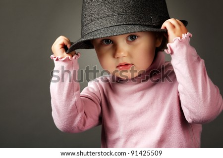 girl in a hat - stock photo