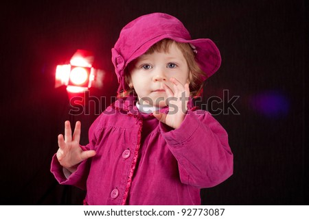 girl in a pink - stock photo