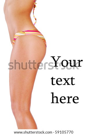 girl in a swimsuit - stock photo