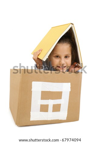 girl in a toy house - stock photo