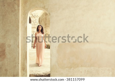 Girl in an arch