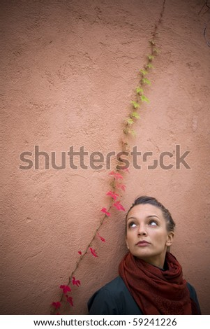 girl in autumn - stock photo