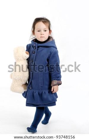 girl in blue - stock photo
