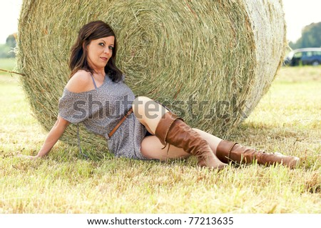 girl in campaign - stock photo