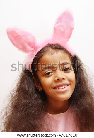 girl in easter rabbit costume