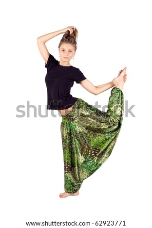 Girl in ethnic clothes - stock photo