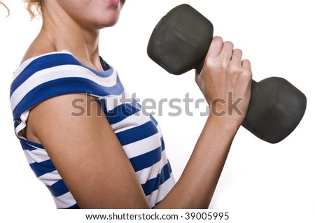 girl in fitness - stock photo