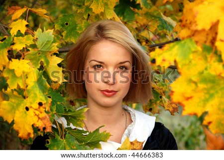 Girl in the foliage.