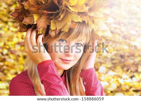 girl in the image of autumn