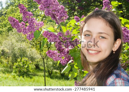 Girl in the Park - stock photo