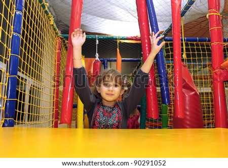 Girl in the playground - stock photo